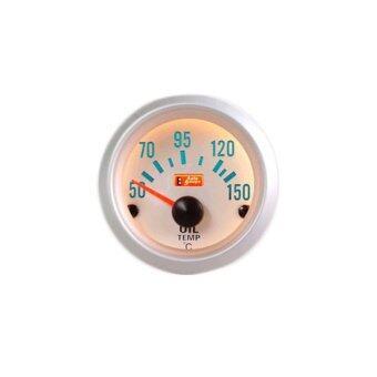 Autogauge เกจ์วัด อุณหภูมิน้ำมันเครื่อง วัดความร้อนเครื่อง oil temp gauge รุ่น silver face 2 นิ้ว (ขอบเงิน/ พื้นขาว)