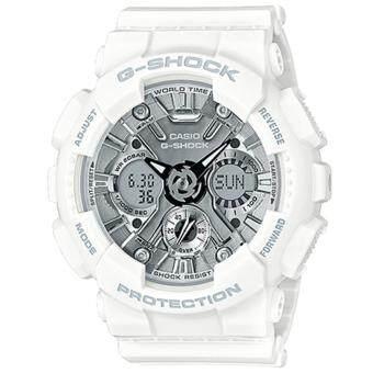 Casio G-Shock Mini นาฬิกาข้อมือผู้หญิง สายเรซิ่น รุ่น GMAS120MF-7A1 - สีขาว image