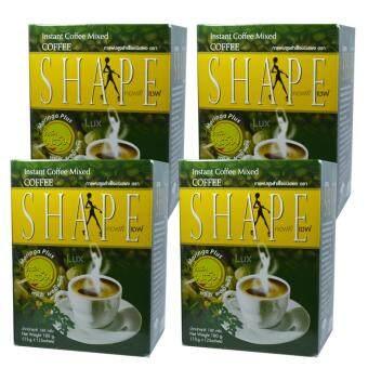 Coffee Shape คอฟฟี่เชฟ กาแฟผสมมะรุม พลัสมอลินก้า กาแฟลดน้ำหนัก เพื่อสุขภาพ หุ่นสวย สั่งได้ บรรจุ 12 ซอง (4 กล่อง)