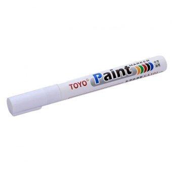 MD TOYO PAINT ปากกา เขียนยาง แต้มยาง สีแต้มแม็กซ์ - สีแต้มล้อรถ-และยางรถยนต์ สีขาว (WHITE)