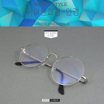 Fashion แว่นตากรองแสงสีฟ้า X-580 สีเงิน ถนอมสายตา (กรองแสงคอม กรองแสงมือถือ)
