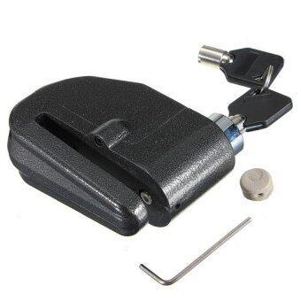 กุญแจล็อคจานเบรค ล็อคดิส (มีเสียง) กุญแจ 2 ดอก (สีดำ)