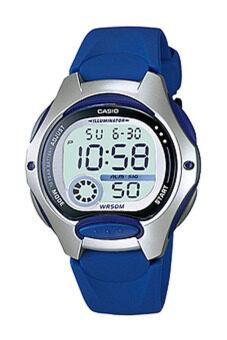 Casio นาฬิกาข้อมือผู้หญิง สีน้ำเงิน สายเรซิน รุ่น LW-200-2AVDF