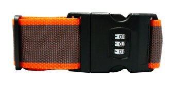 WINS สายล็อกกระเป๋าเดินทาง คลิกล็อกแบบตั้งรหัส (สีส้ม-น้ำตาล)