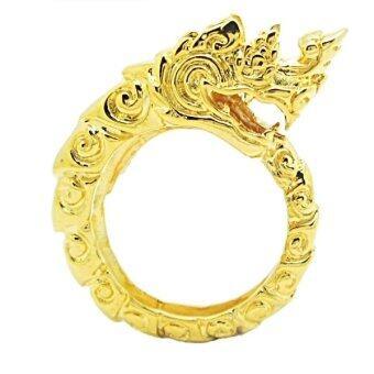 TanGems แหวนฟรีไซส์พญานาคชุบทอง รุ่น 1812 (ทอง)