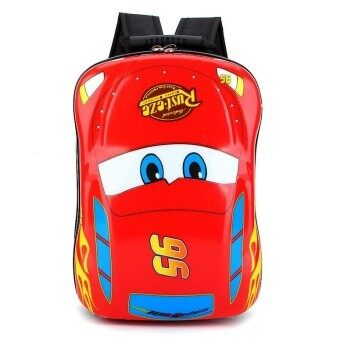 Hely TOP ABS Kids Baby Boy Schoolbag Waterproof Cute Cartoon Animal Eggshell Backpack(Cars) - intl