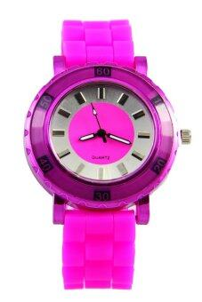 DM นาฬิกาข้อมือ สายซิลิโคน (Pink)