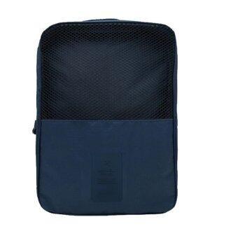 Look Good Shop กระเป๋าใส่รองเท้า สำหรับเดินทาง กันน้ำได้ - Blue