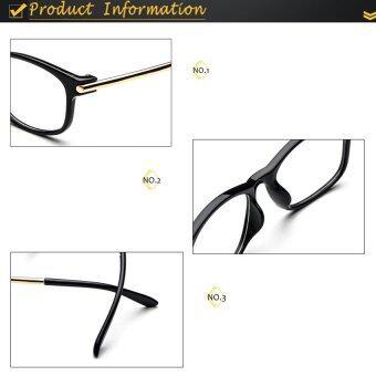Lunar แว่นตากันแดด เลนส์ใส แว่นกัน แดดแว่นตาวินเทล แว่นตาเท่ๆ แว่นตาสวยๆ แว่นตาแฟชั่น ผู้หญิง ผู้ชายGlasses0020-blackดำ (image 4)