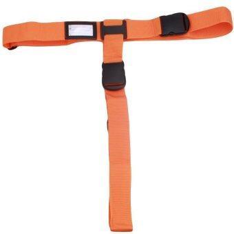LALANG Travel Cross Luggage Straps Baggage Suitcase Packing Belt Adjustable Buckle (Orange)