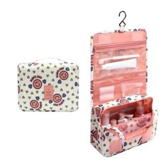 กระเป๋าใส่อุปกรณ์อาบน้ำ เครื่องสำอางค์ อเนกประสงค์ smile-pink