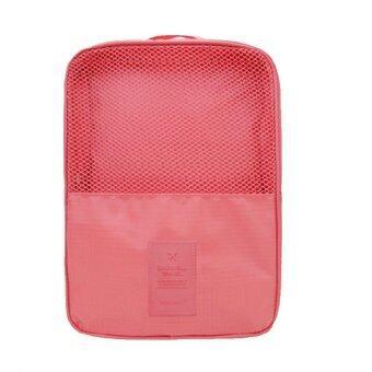 Look Good Shop กระเป๋าใส่รองเท้า สำหรับเดินทาง กันน้ำได้ - Pink