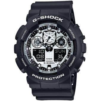 Casio G-Shock นาฬิกาข้อมือผู้ชาย สายเรซิ่น รุ่น GA-100BW-1A - สีดำ image