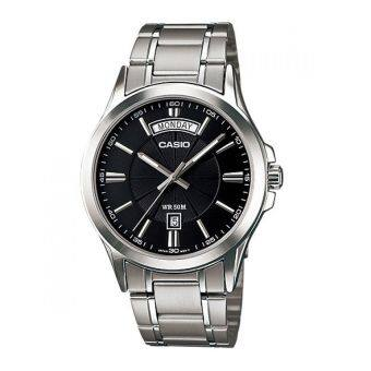 CASIO นาฬิกาผู้ชาย Gent quartz สีเงิน สายสแตนเลส รุ่น MTP-1381D-1AVDF image