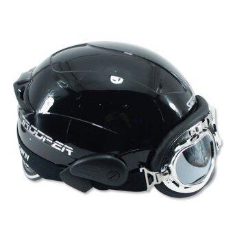 SPACE CROWN หมวกกันน๊อค รุ่น ทูปเปอร์ B5 (สีดำเงา)