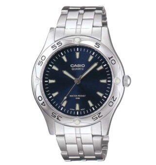 Casio นาฬิกาข้อมือ รุ่น MTP-1243D-2AVDF (Black/Blue)