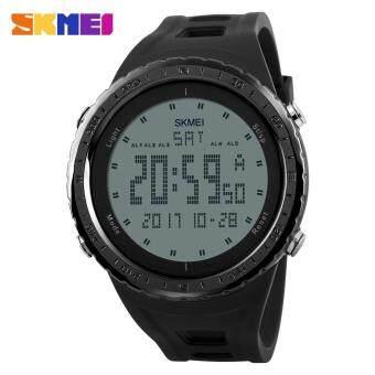 SKMEI 1246 Men Sports Watches Countdown Chrono Double Time EL Light Digital Wristwatches 50M Water Resistant - Black - intl image