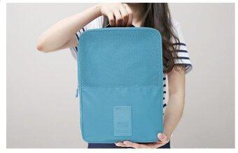 Mori กระเป๋าจัดระเบียบ กระเป๋าใส่รองเท้า ถุงใส่รองเท้า 3 คู่ Shoes Bag Shoes Organizer Bag Organizer (Deep Blue / สีฟ้าเข้ม)