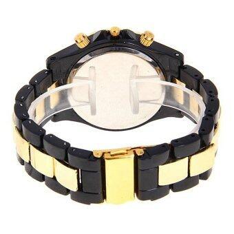 360DSC นาฬิกานาฬิกาข้อมือควอทซ์คริสตัลกันน้ำหญิง