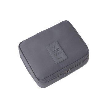 OEM กระเป๋าใส่อุปกรณ์อาบน้ำ Toiletry Bag กระเป๋าเครื่องสำอางค์ Cosmetics Bag (สีเทา)