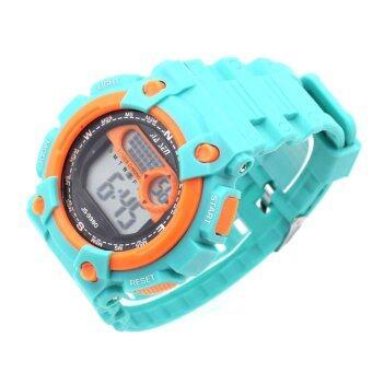 Sevenlight SPORT นาฬิกาข้อมือ Unisex ได้ทั้งชายและใส่หญิง - GP9208 (Green/ Orange) (image 2)