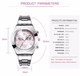 LONGBO Women Waterproof Quartz Stainless Steel Wrist Watch (Black) (image 3)