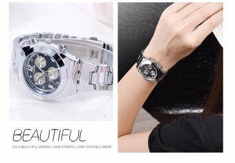 LONGBO Women Waterproof Quartz Stainless Steel Wrist Watch (Black) (image 1)