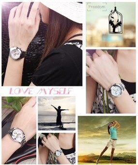 LONGBO Women Waterproof Quartz Stainless Steel Wrist Watch (Black) (image 4)