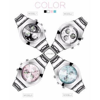 LONGBO Women Waterproof Quartz Stainless Steel Wrist Watch (Black) (image 2)