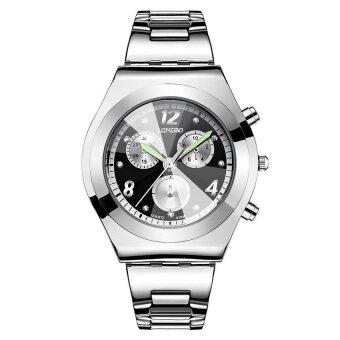 LONGBO Women Waterproof Quartz Stainless Steel Wrist Watch (Black)