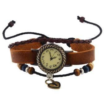 360DSC นาฬิกาข้อมือเรโทรสไตล์รักคนอวดรู้ปรับได้สร้อยข้อมือนาฬิกา