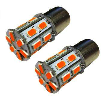 หลอด LED ไฟเลี้ยวหรือไฟถอย เขี้ยวบิดใหญ่ แสงสีส้ม ได้ 1 คู่ (ORANGE) 84-racing