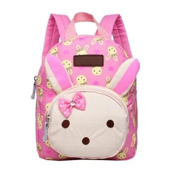 Unisex Children Kids Baby Cute Cartoon Rabbit Schoolbag School Travel Outdoor Bag Backpack for 0-3 Years Old Baby Pink - intl