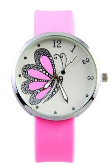 DM ฺนาฬิกาข้อมือ Butterfly - Pink
