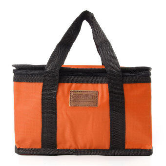 Teamtop Waterproof Thermal Cooler Insulated Lunch Box Storage Picnic Large Bag Foldable Orange - Intl