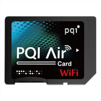 PQI Air Card with Micro SD 16GB - Black