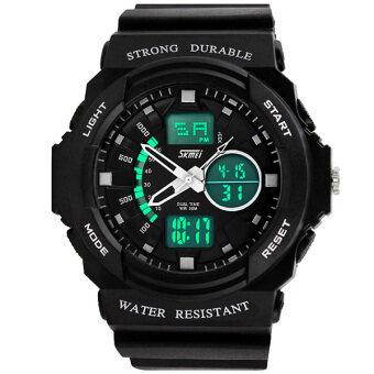 SKMEI นาฬิกาแฟชั่นผู้ชาย กันน้ำ ดิจิตอล สีขาว Sport Fashion Waterproof LED Digital Men Watch - White