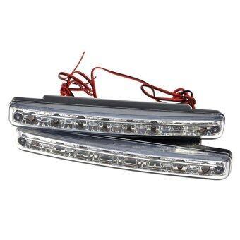 LED ไฟเดย์ไลท์ DRL daytime running light 8 จุด