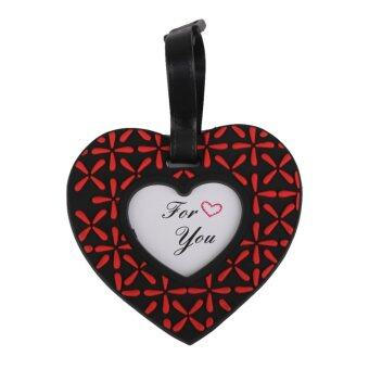 Heart Travel Luggage Baggage Tags Name Bag Card Holder Suitcase Bag Labels