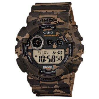 Casio G-Shock นาฬิกาข้อมือผู้ชาย สายเรซิ่น รุ่น GD-120CM-5A (สีเขียว) image