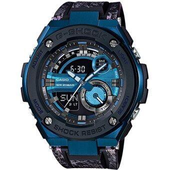 Casio G-Shock นาฬิกาข้อมือผู้ชาย สายเรซิ่น รุ่น GST-200CP-2A - สีดำ/น้ำเงิน image