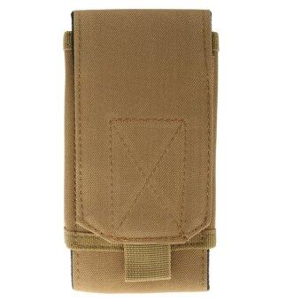BolehDeals New Outdoor Tactical Molle Cell Phone Velcro Nylon Bag Pouch Khaki - intl