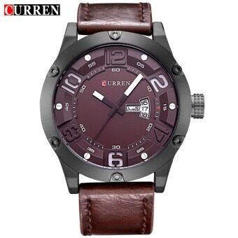 [100% Genuine]CURREN 8251 Men's Round Analog Wrist Watch with Three Decorated Sub-Dial image