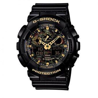 Casio G-Shock Men's Black Resin Strap Watch GA-100CF-1A9