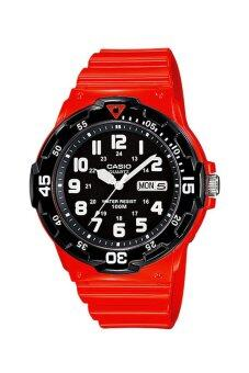 Casio Standard นาฬิกาข้อมือผู้ชาย สายเรซิ่น รุ่น MRW-200HC-4BV - Red image