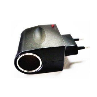 Orbia ตัวแปลงไฟบ้าน ให้เป็นไฟ 12V DC แบบที่จุดบุหรี่ในรถ (Black)