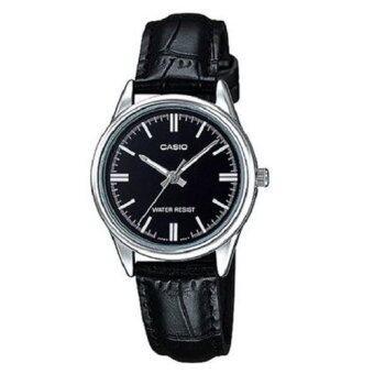 Casio นาฬิกาข้อมือ ผู้หญิง สายหนัง สีดำ รุ่น LTP-V005L-1AUDF