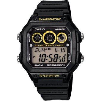 Casio นาฬิกาข้อมือผู้ชาย รุ่น AE-1300WH-1AV (สีดำ)