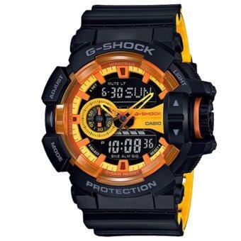Casio G-Shock นาฬิกาข้อมือผู้ชาย สายเรซิ่น รุ่น GA-400BY-1A - สีดำ image