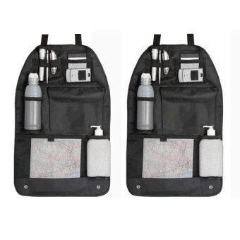 กระเป๋าใส่ของหลังเบาะรถยนต์ (ดำ) 2pcs